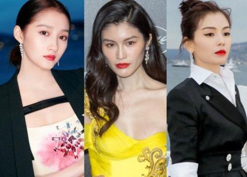 Sự kiện bên lề Cannes: Ming Xi - Sui He cạnh tranh sắc vóc khốc liệt, Lưu Đào - Quan Hiểu Đồng chẳng chịu lép vế