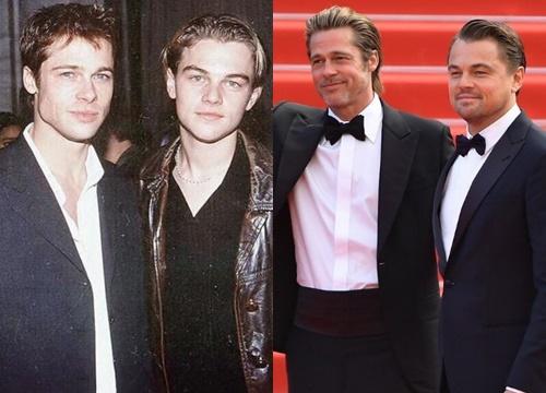 Choáng với ảnh cặp tài tử Brad Pitt và Leonardo hiện tại và 30 năm trước: Người vẫn quá đỉnh, kẻ vừa béo vừa tuột dốc
