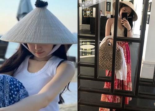 Fan thích thú trước hình ảnh Naeun (Apink) đội nón lá, tung tăng du lịch tại Đà Nẵng