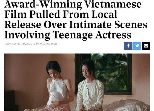 Hollywood Reporter đưa tin 'Vợ Ba' ngưng chiếu vì dư luận chỉ trích cảnh nóng của diễn viên 13 tuổi