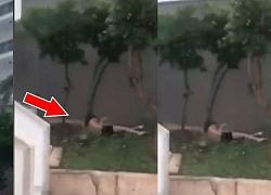 """Clip: Thanh niên gãy xương khi nhảy từ ban công xuống đất hòng """"ăn vạ"""" tiền khách sạn"""