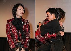 Quang Trung và Phương Uyên ôm nhau khóc nức nở trong buổi ra mắt MV 'Giá như mình đừng yêu nhau'