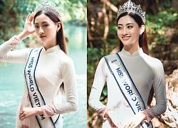 Hoa hậu Lương Thùy Linh diện áo dài thả dáng giữa đất trời Cao Bằng